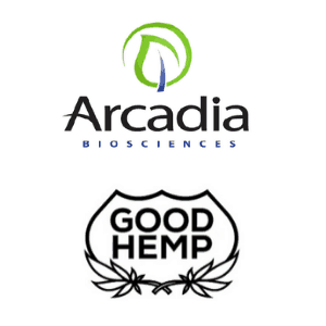 Arcadia Biosciences and Good Hemp Logos